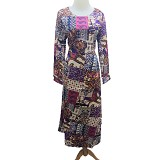 VSTAR Gamis Natural Abstract [62-136] - Purple (V) - Maxi Dress Wanita